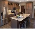 ShowplaceEVO-pierce Sp-rustic alder-stain-kitchen-granite-vienna-cherry SG-island