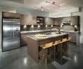 ice house slab - evo-veneer - custom stain - white oak - kitchen - modern - merit
