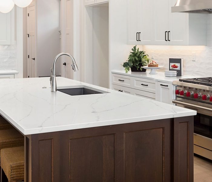 calacatta-ultra-quartz kitchen
