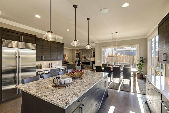 Quartz kitchen countertops in Salt Lake City